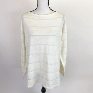 Carolyn Taylor Cream Tunic Sweater L